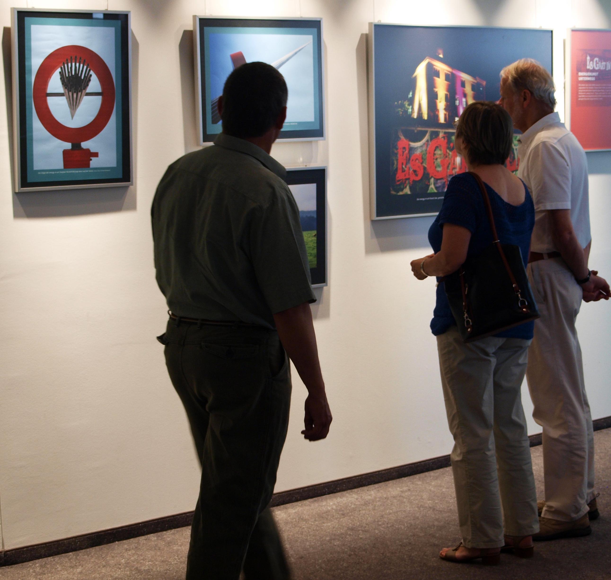 Die Fotoausstellung zeigt die Highlights des Projektes energy-in-art.
