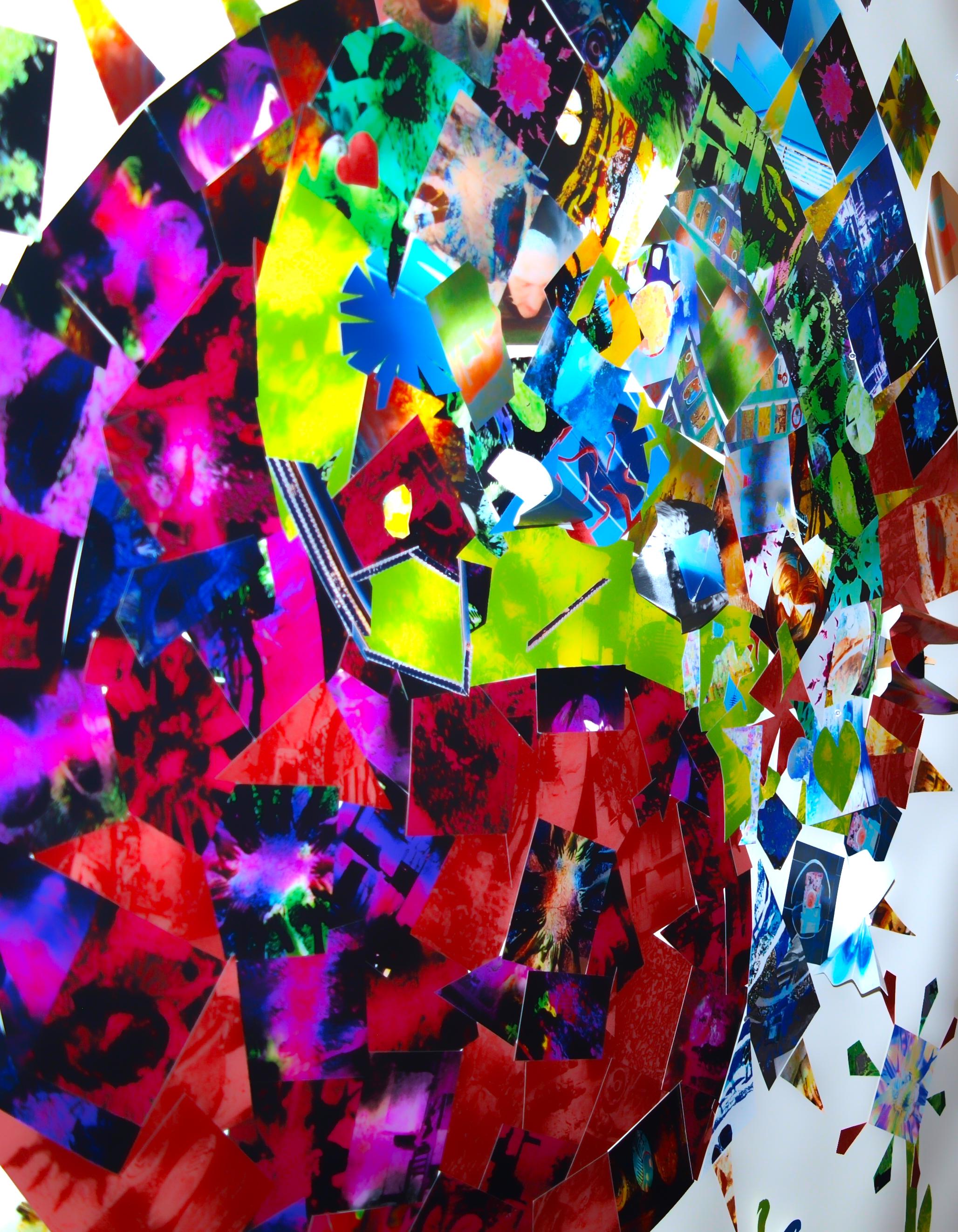 Detail des gemeinsam gestalteten Kunstwerkes.
